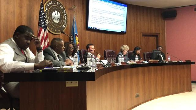 Monroe Mayo discusses how declining sales tax revenue has impacted the city's funding and pump station failures in the city.