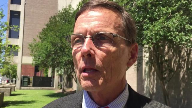 Lafayette Attorney Bill Goodell said April 11, 2018, at a press conference tests by Union Pacific railroad on a single well in the Chicot Aquifer, Lafayette's drinking water source, shows high levels of the chemical benzene. Lafayette Utilities System officials said benzene has not been found in the city's water.