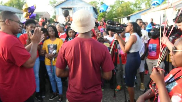 Memorial service for Ricky Freeman was held Wednesday on Common Street where he was murdered early Sunday. Arrested Wednesday afternoon was Fanuel Aaron, Jr. 44, who was charged with second degree murder.