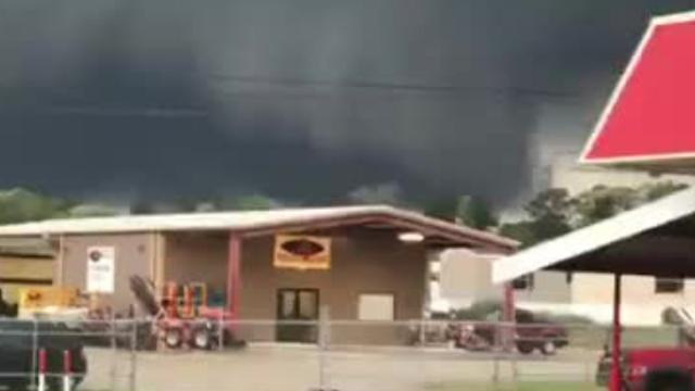 Video footage from two readers of a possible tornado in Calhoun on Friday, April 13 around 6:45 p.m.