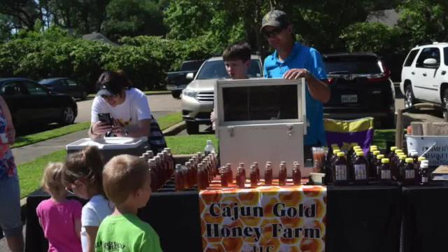 Beekeeper teaches sweet lessons at market