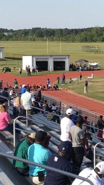 Minden's Patrick Heard wins the 100 meters at the District 1-4A meet Wednesday.