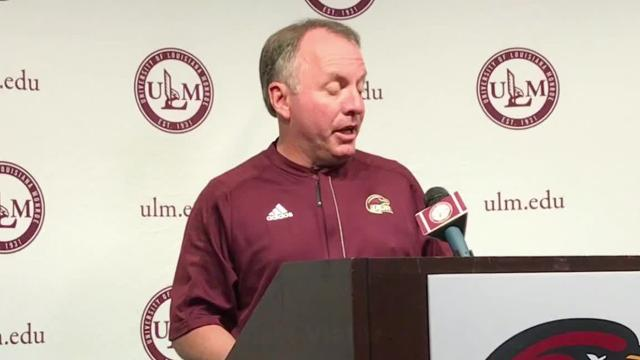 ULM held its spring football game on Saturday at Malone Stadium.