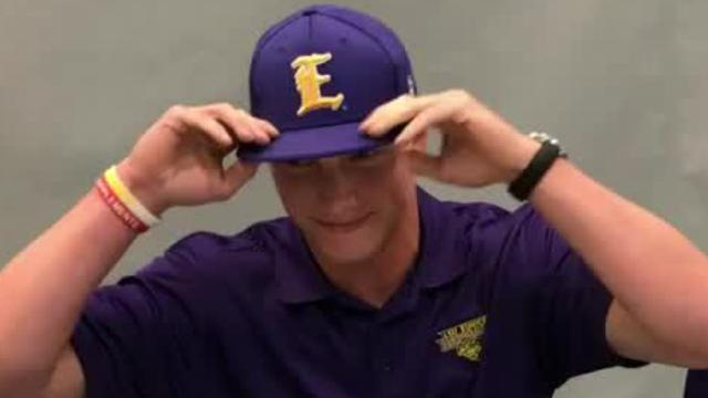 Sterlington's Brooks Rushworth signed with LSU-Eunice on Monday.