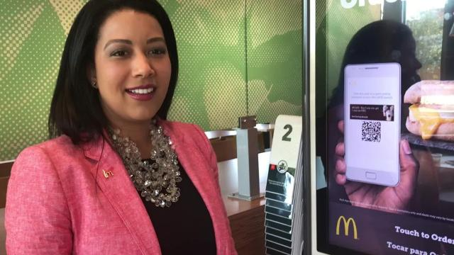 New technology at McDonald's restaurant on Highway 28 East was unveiled Wednesday.