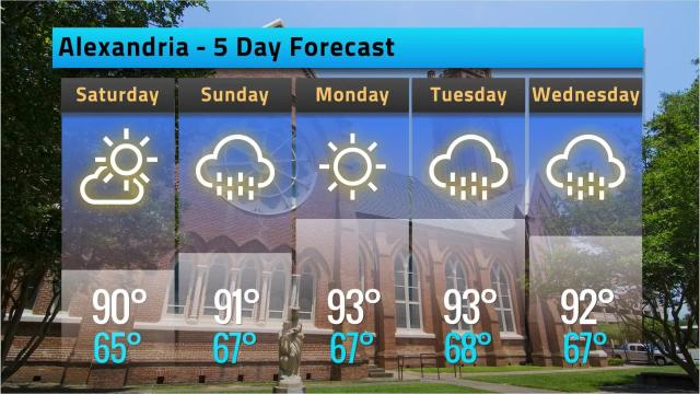 Here is your Alexandria weather forecast for Friday, May 11