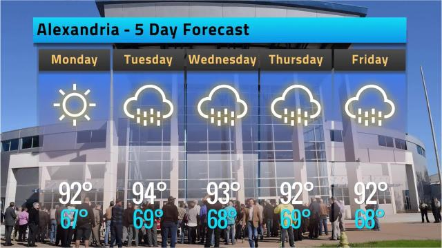Here is your Alexandria weather forecast for Sunday, May 13