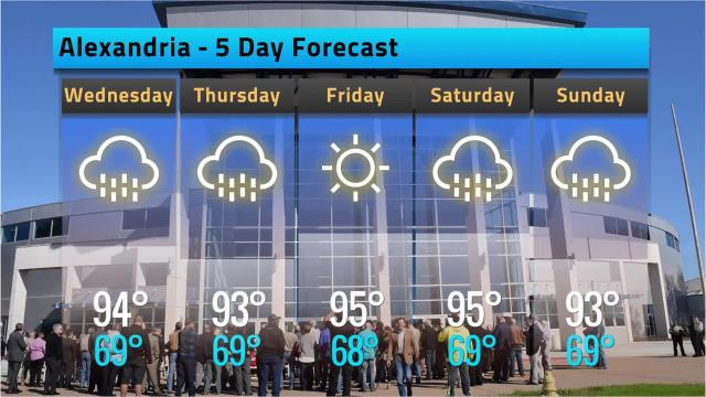 Here is your Alexandria weather forecast for Tuesday, May 15