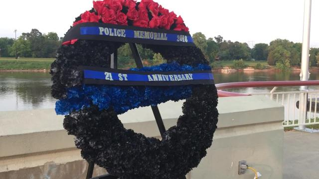 The 21st annual Law Enforcement Memorial Service was held Tuesday (May 15, 2018) at the Alexandria Riverfront Amphitheater in downtown Alexandria.