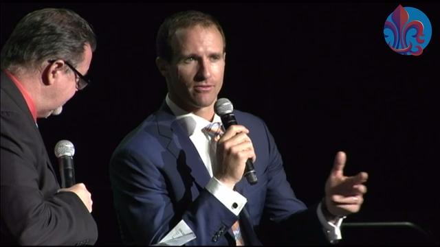 Drew Brees was the special guest for The Daily Advertiser's Sports Awards May 15, 2018, at the Cajundome Convention Center. He and sports editor Kevin Foote talked about Brees' career and his advice for high school students.