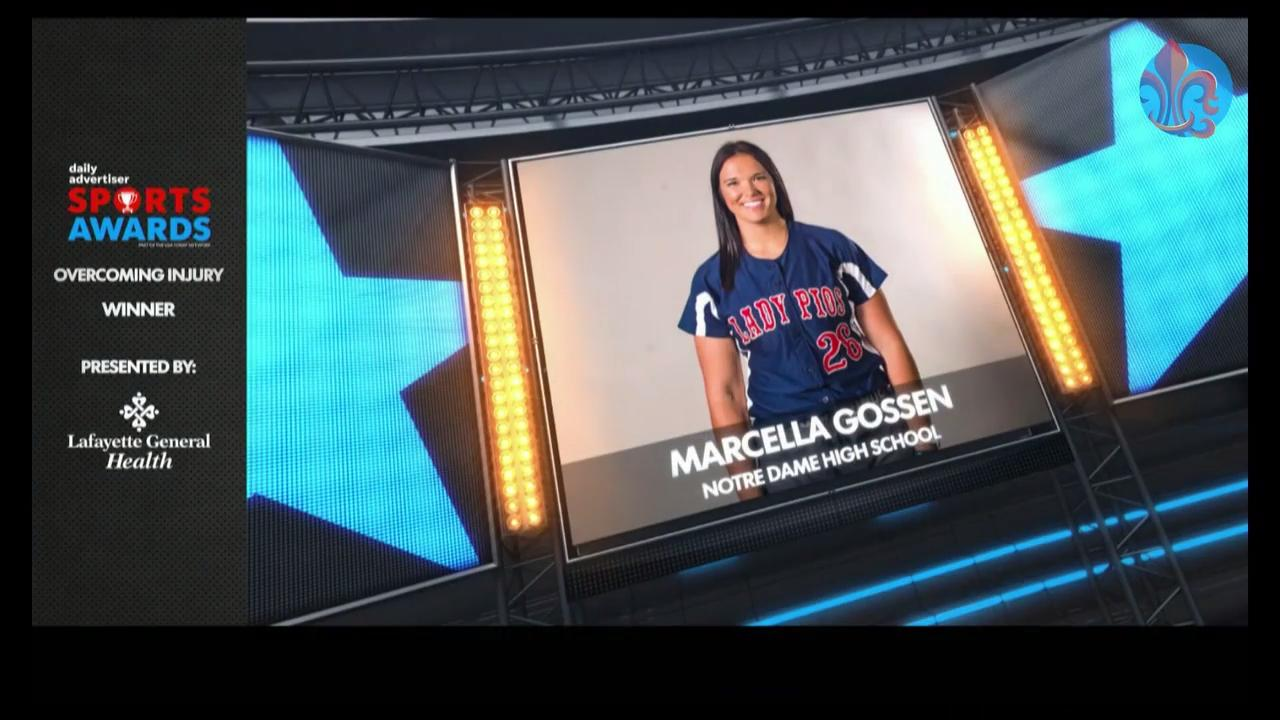 Marcella Gossen was recognized for her commitment to sports, even after some major setbacks.