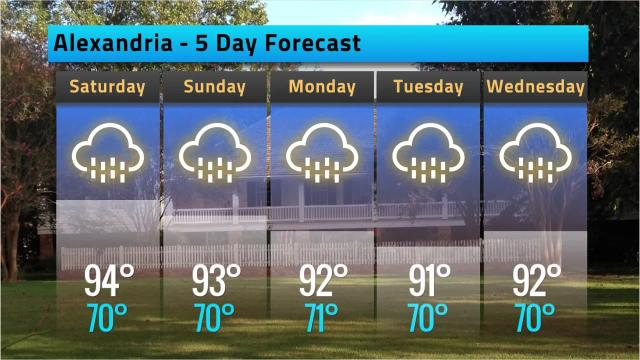 Here is your Alexandria weather forecast for Friday, May 18