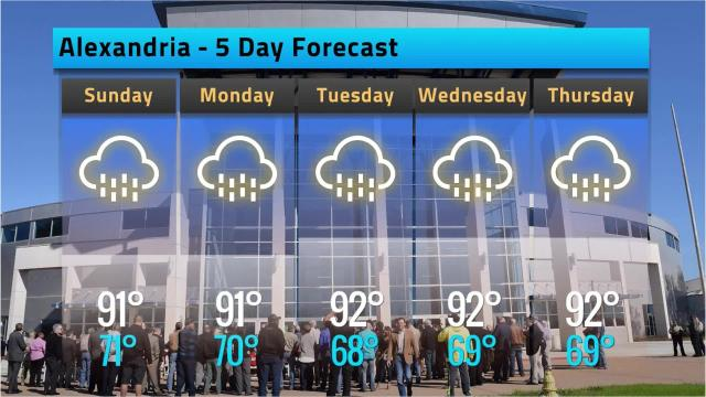 Here is your Alexandria weather forecast for Saturday, May 19