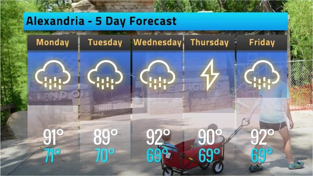 Here is your Alexandria weather forecast for Sunday, May 20