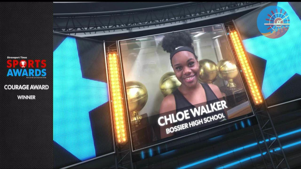 Chloe Walker won the 2018 Courage Award. She is a student at Bossier High School.