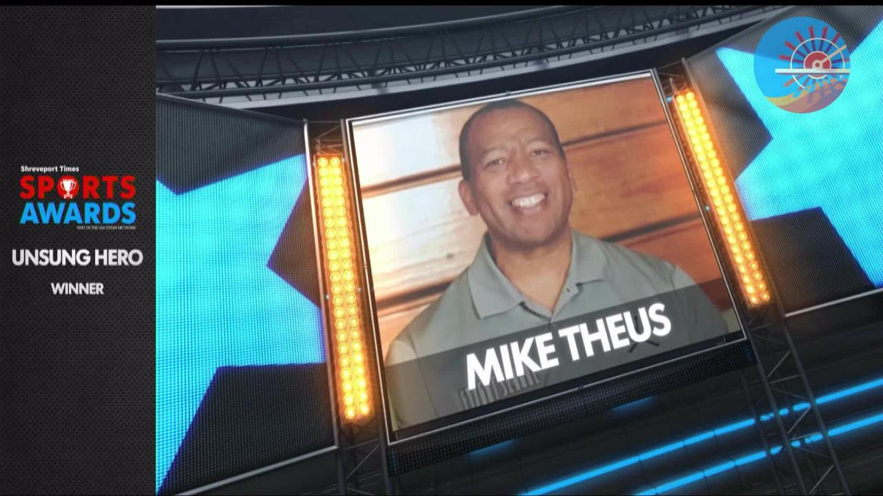 The Shreveport Times recognized Mike Theus with the unsung hero award at the 2018 Sports Awards.