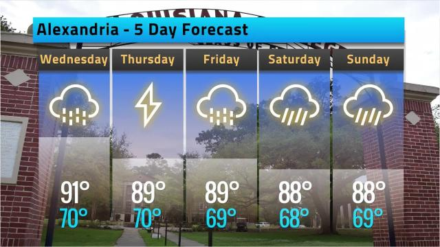 Here is your Alexandria weather forecast for Tuesday, May 22