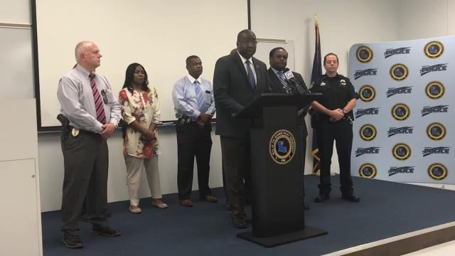 Monroe Police Department Chief Eugene Ellis discusses the loss of Officer Ayrian Williams. Williams died following a car wreck on Monday, May 21, 2018.