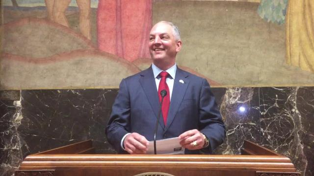 """Gov. John Bel Edwards spoke to representatives of safety net hospitals throughout the state in the Capitol Wednesday, calling their unity """"a powerful voice."""""""