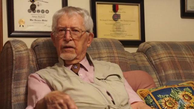 James Bollich of Lafayette, La., 96, is one of the few living veterans from the Bataan Death March of World War II.