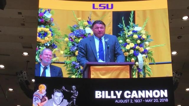Ed Orgeron delivered at Billy Cannon funeral