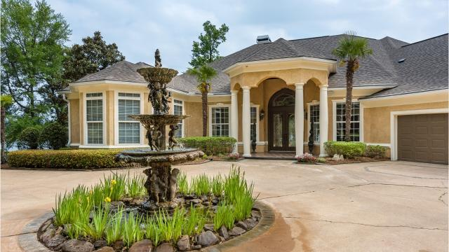 Homeowners have panoramic water views from every point on the peninsula at 229 Madonna Drive in Benton.