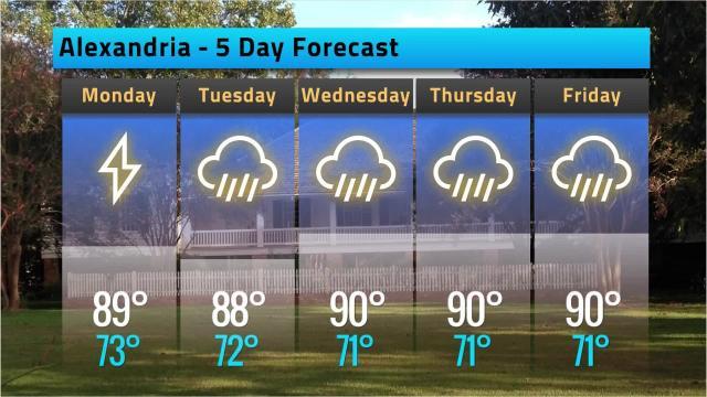 Alexandria weather forecast for Sunday, June 17, 2018