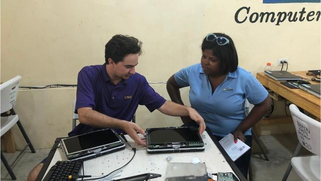 For the third straight year, a team from St. Thomas More Catholic High has visited the Respire Haiti school and surrounding communities to bring them technology, books and more educational materials.