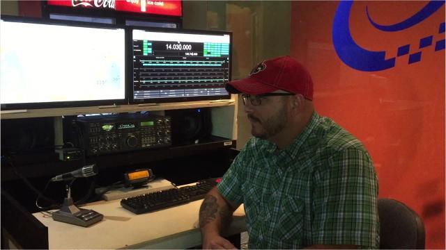 Ham radio operator talks about Field Day