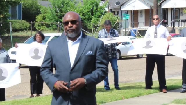 Pastor Theron Jackson discuss crime in Shreveport and possible solutions during an Interfaith press conference Monday, June 2.