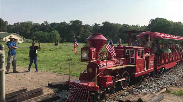 A new train has arrived at the Louisiana Purchase Gardens and Zoo and conductors will soon be taking visitors on rides.