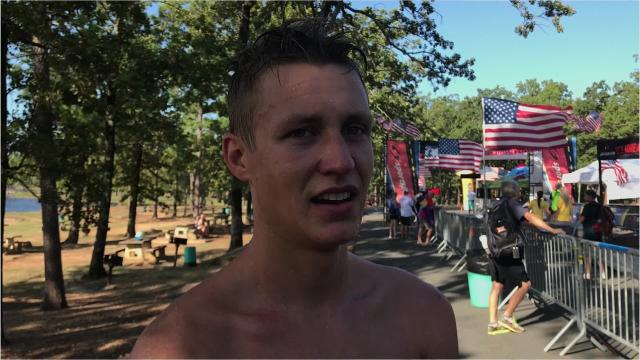 Chris Pietraszkiewicz weathered several issues Sunday to capture the River Cities Triathlon.