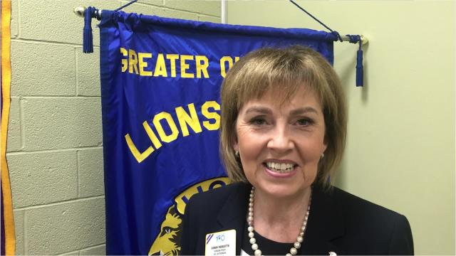 Lions Club International President Gudrun Yngvadottir visited Louisiana Tuesday.
