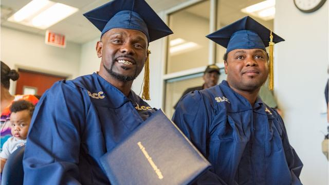 A partnership between the Lafayette Parish Sheriff's Office Community Corrections division and South Louisiana Community College is offering inmates a technical diploma track in welding. Part of LPSO's Re-Entry Program, the partnership began last year. Two completers of the program celebrated their diploma with a ceremony Wednesday, Aug. 29. Photos by Scott Clause/The Advertiser