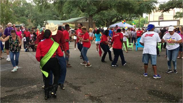 Zydeco Breakfast held Saturday on the grounds of St. Landry Parish Courthouse.