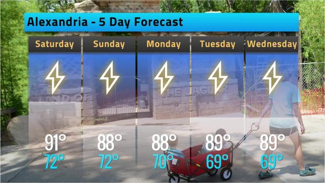 Here is your Alexandria weather forecast for Friday, Sept. 7