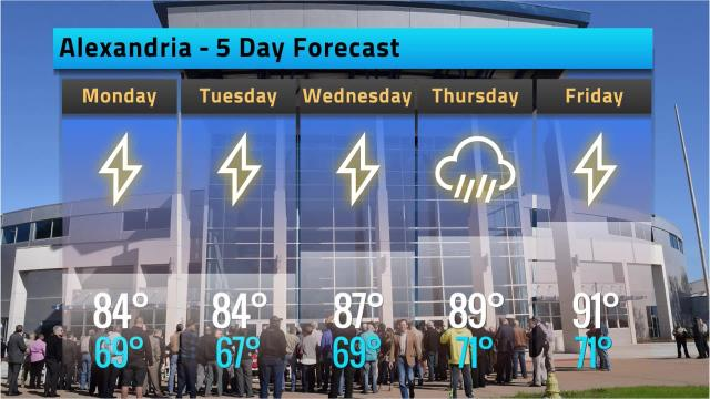 Here is your Alexandria weather forecast for Sunday, Sept. 9