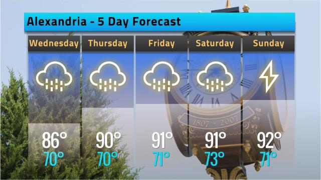 Here is your Alexandria weather forecast for Tuesday, Sept. 11