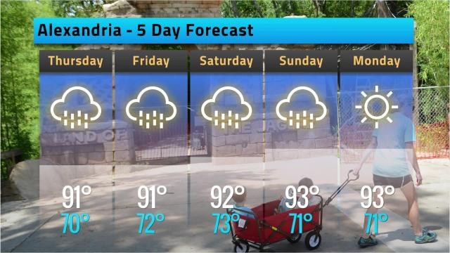 Here is your Alexandria weather forecast for Wednesday, Sept. 12