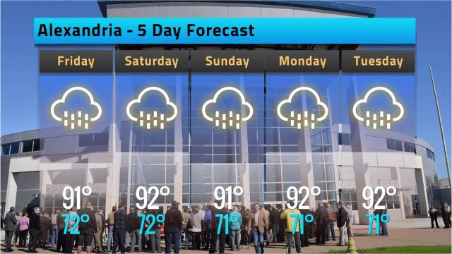 Here is your Alexandria weather forecast for Thursday, Sept. 13