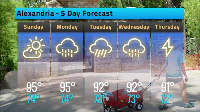 Here is your Alexandria weather forecast for Saturday, Sept. 15
