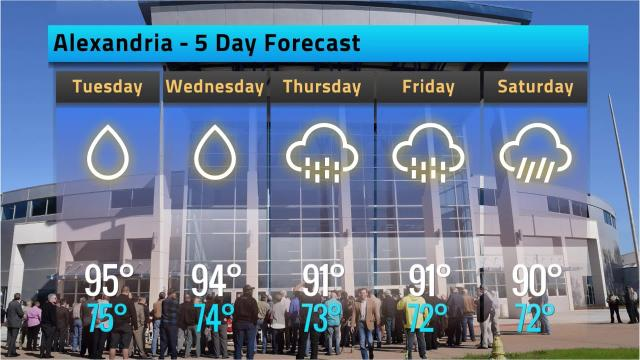 Here is your Alexandria weather forecast for Monday, Sept. 17