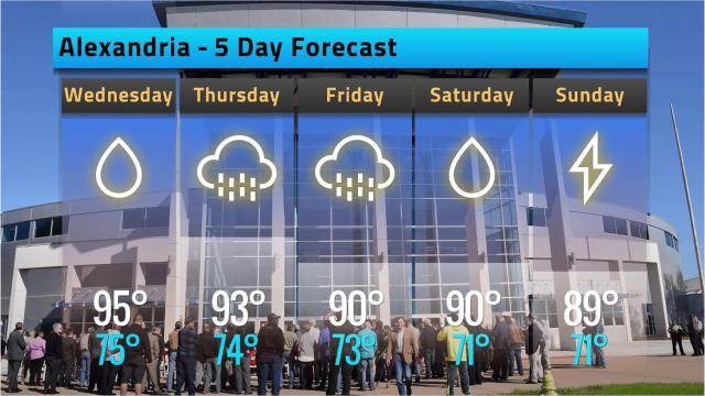 Here is your Alexandria weather forecast for Tuesday, Sept. 18