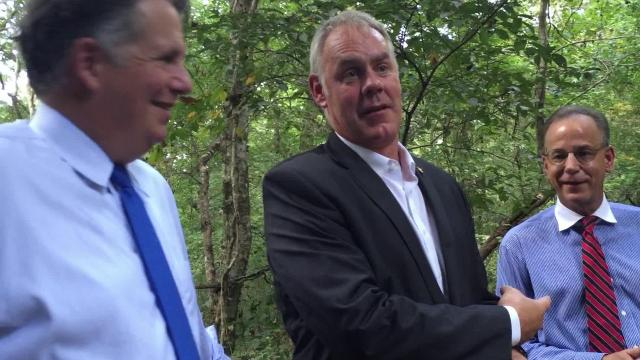 At a press conference Sept. 18, 2018, at the Acadiana Nature Station in Lafayette, Louisiana, Daily Advertiser reporter Claire Taylor asked U.S. Interior Secretary Ryan Zinke if he wrote the anonymous op-ed in the New York Times.