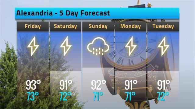 Here is your Alexandria weather forecast for Thursday, Sept. 20