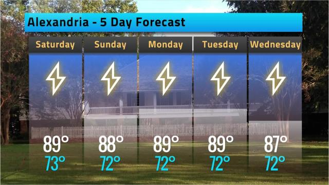 Here is your Alexandria weather forecast for Friday, Sept. 21