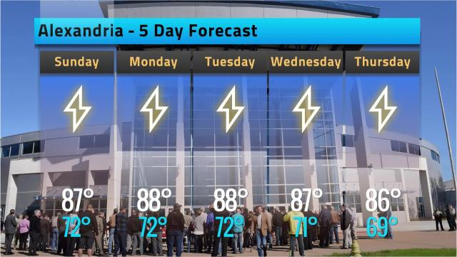 Here is your Alexandria weather forecast for Saturday, Sept. 22