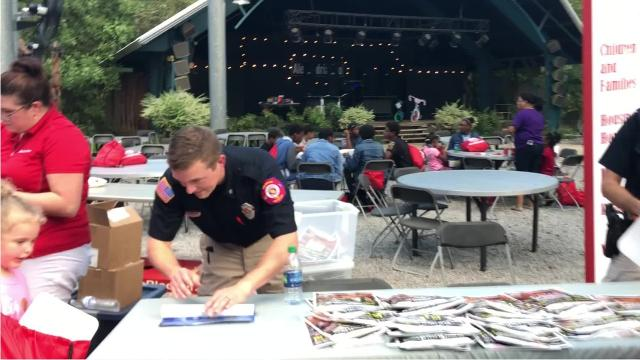 The Alexandria Police Department hosted National Night Out at the Alexandria Zoo Tuesday (Oct. 2, 2018). The goal of the free event is to strengthen the connection between the community and law enforcement. The Rapides Parish Sheriff's Office, Woodworth Police Department, the Alexandria Fire Department, Alexandria City Marshal's Office, Acadian Ambulance and a host of community organizations also participated.