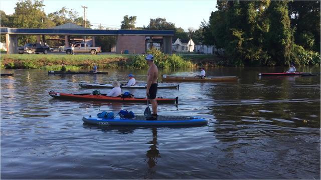 Annual canoe and kayak race down the Bayou Teche
