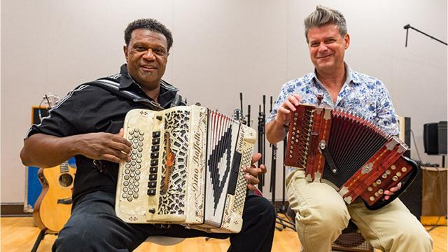 Herman Fuselier sits down with two Grammy Award winning artist, Chubby Carrier and Steve Riley. Tuesday, Sept. 25, 2018.